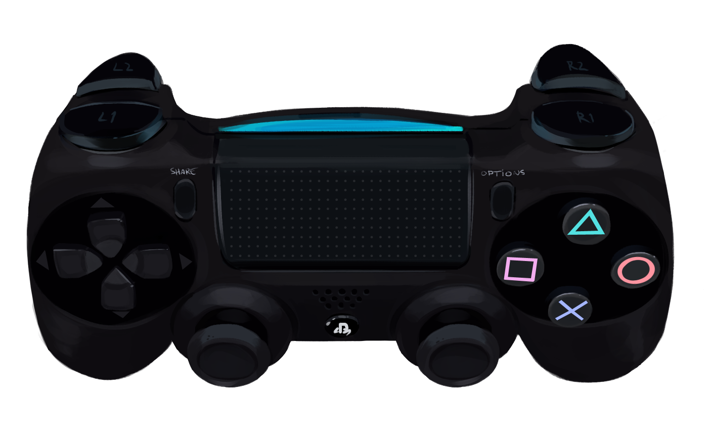 1400x850 Ps4 Controller Transparent Png Pictures