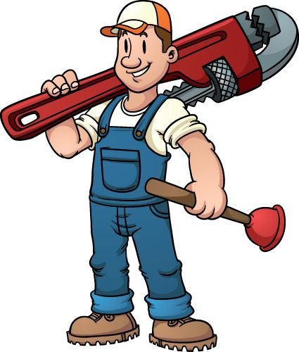 425x500 Plumbers Funny Pictures Funny Plumber Design Elements Vector 03