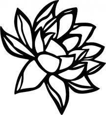 216x234 Plumeria Flower Die Cut Vinyl Decal Pv1355 Flower, Silhouettes