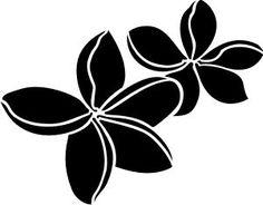 236x184 Plumeria Flower With Swirls And Dots Sticker Stuff For My Car