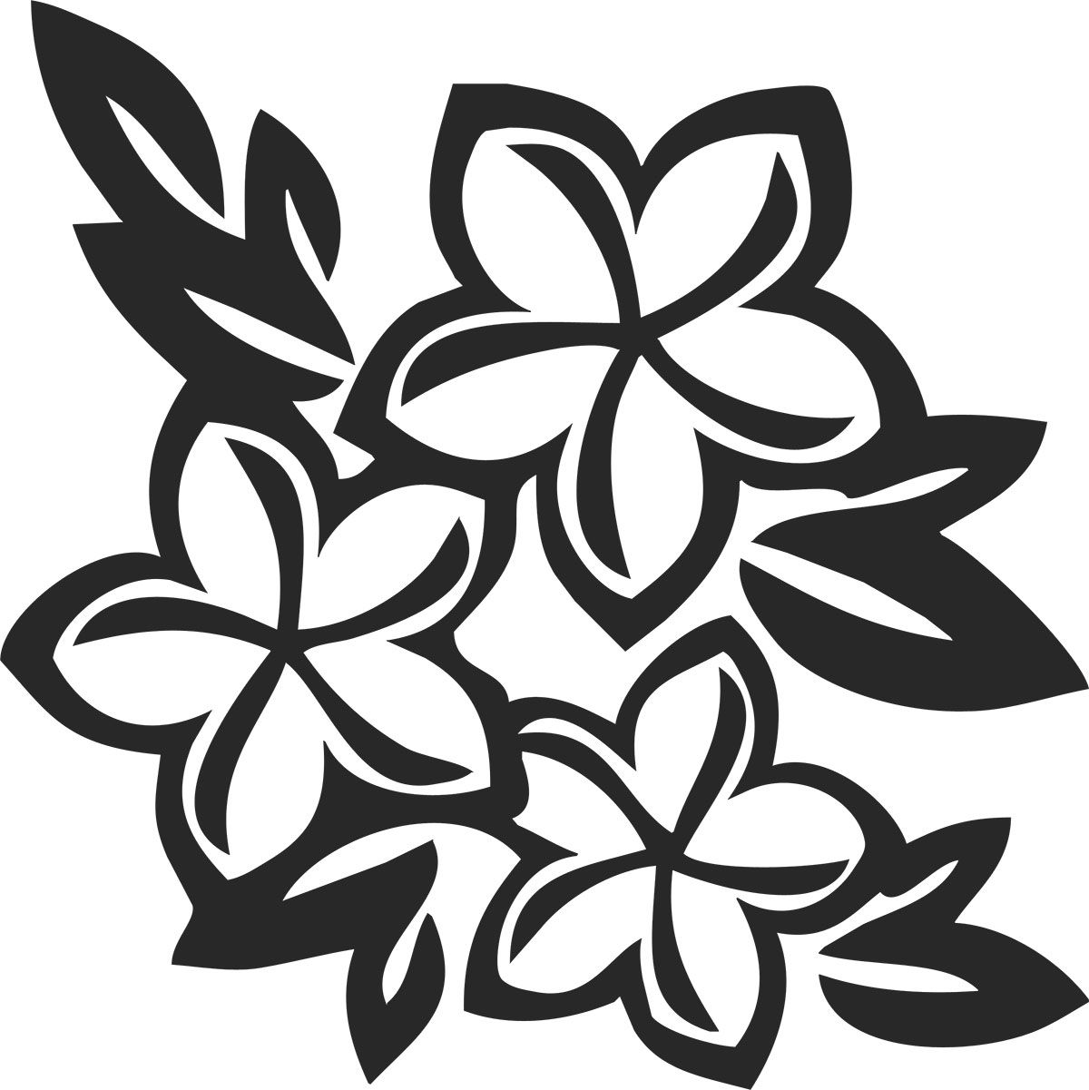 1200x1201 Flower Patterns Outlines Amp Silhouettes Flower