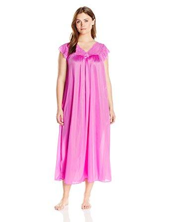 342x445 Shadowline Women's Plus Size Silhouette 53 Short Cap Sleeve Long