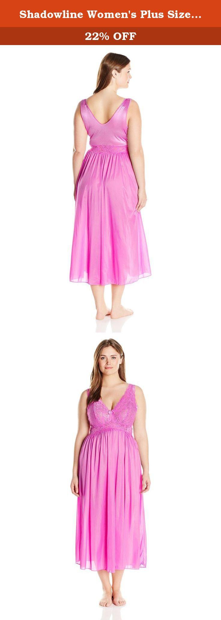 736x2064 Shadowline Women's Plus Size Silhouette 53 Sleeveless Long Gown