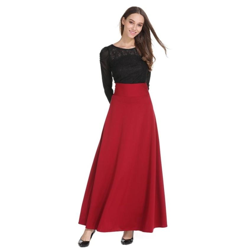 850x850 High Waist Maxi Skirt For Women Big Swing Ankle Length Long