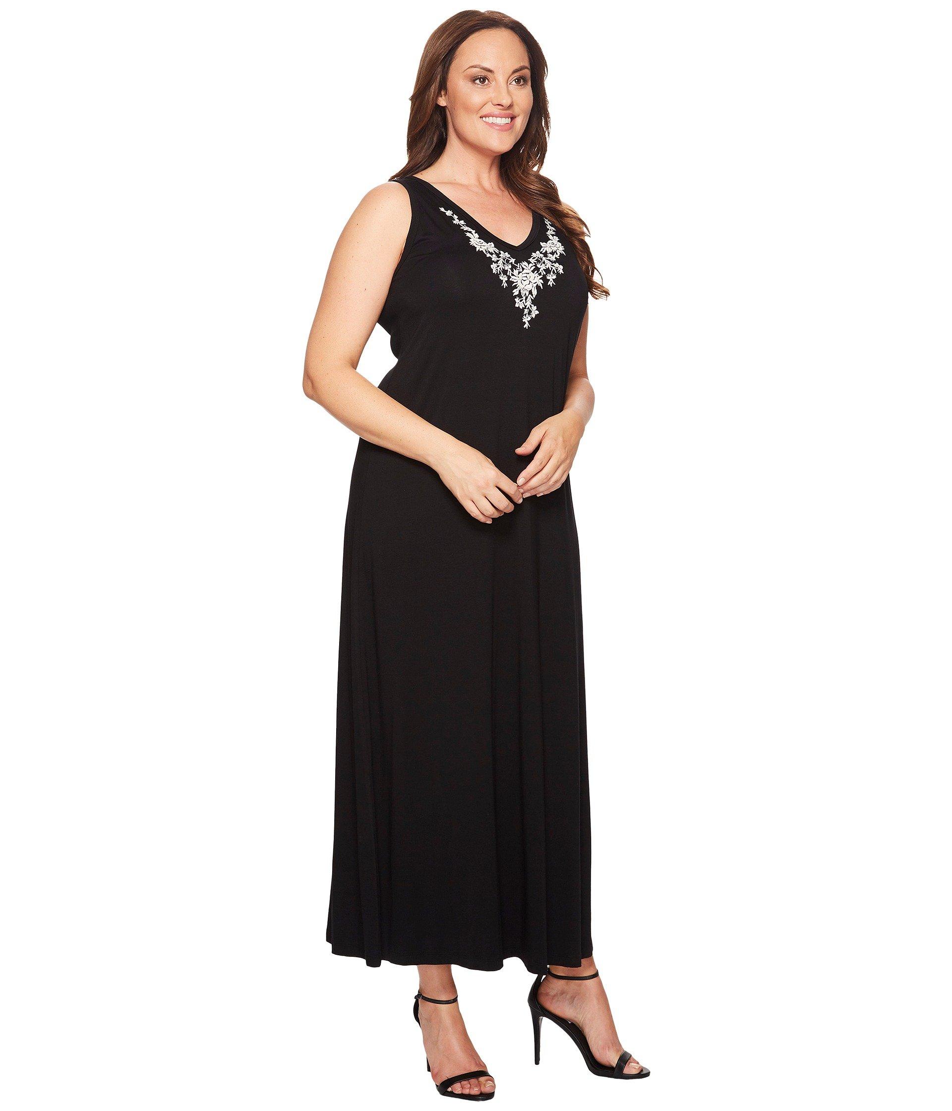1920x2240 Karen Kane Plus Women's Clothing Plus Size Embroidered Alana Maxi