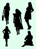 119x160 Plus Size Woman Gesture Silhouette 03. Good Use For Symbol, Logo