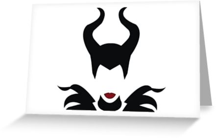 441x283 Minimalist Maleficent Greeting Cards By Prince Of Pluto Redbubble