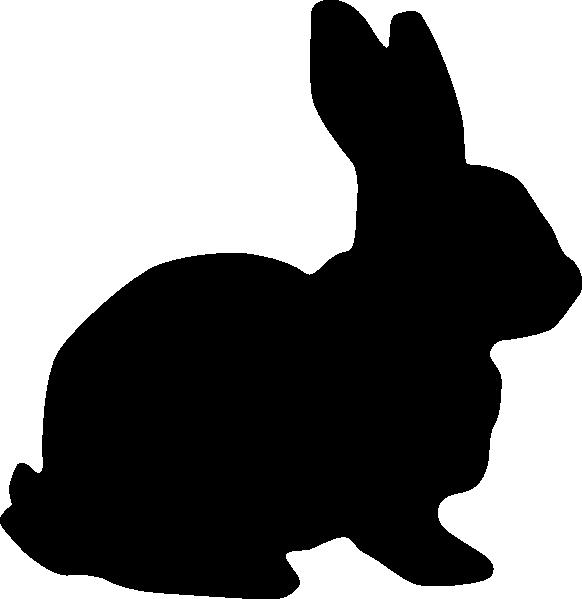 582x599 Rabbit Silhouette Clip Art