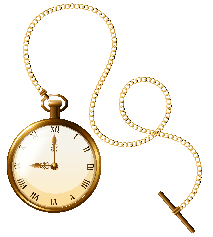 5127x5719 Gold Pocket Watch Clock Png Clip Art