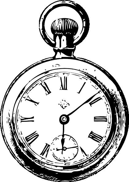 420x595 Pocket Watch Clip Art