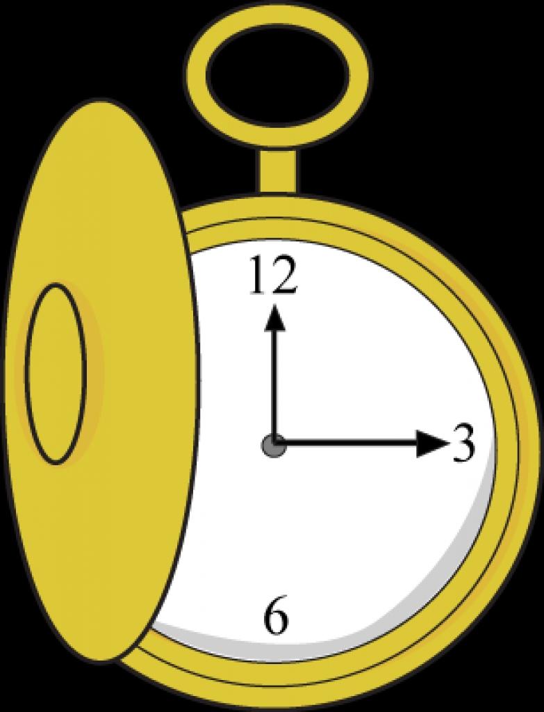 783x1024 Pocket Watch Clipart Illustration