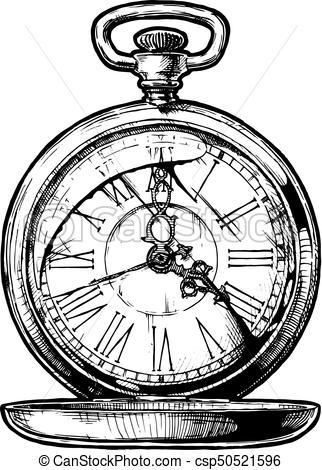 322x470 Drawn See Pocket Watch Many Interesting Cliparts