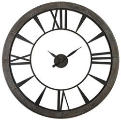 250x249 French Antique Iron Pocket Watch Style Large Wall Clock Kathy