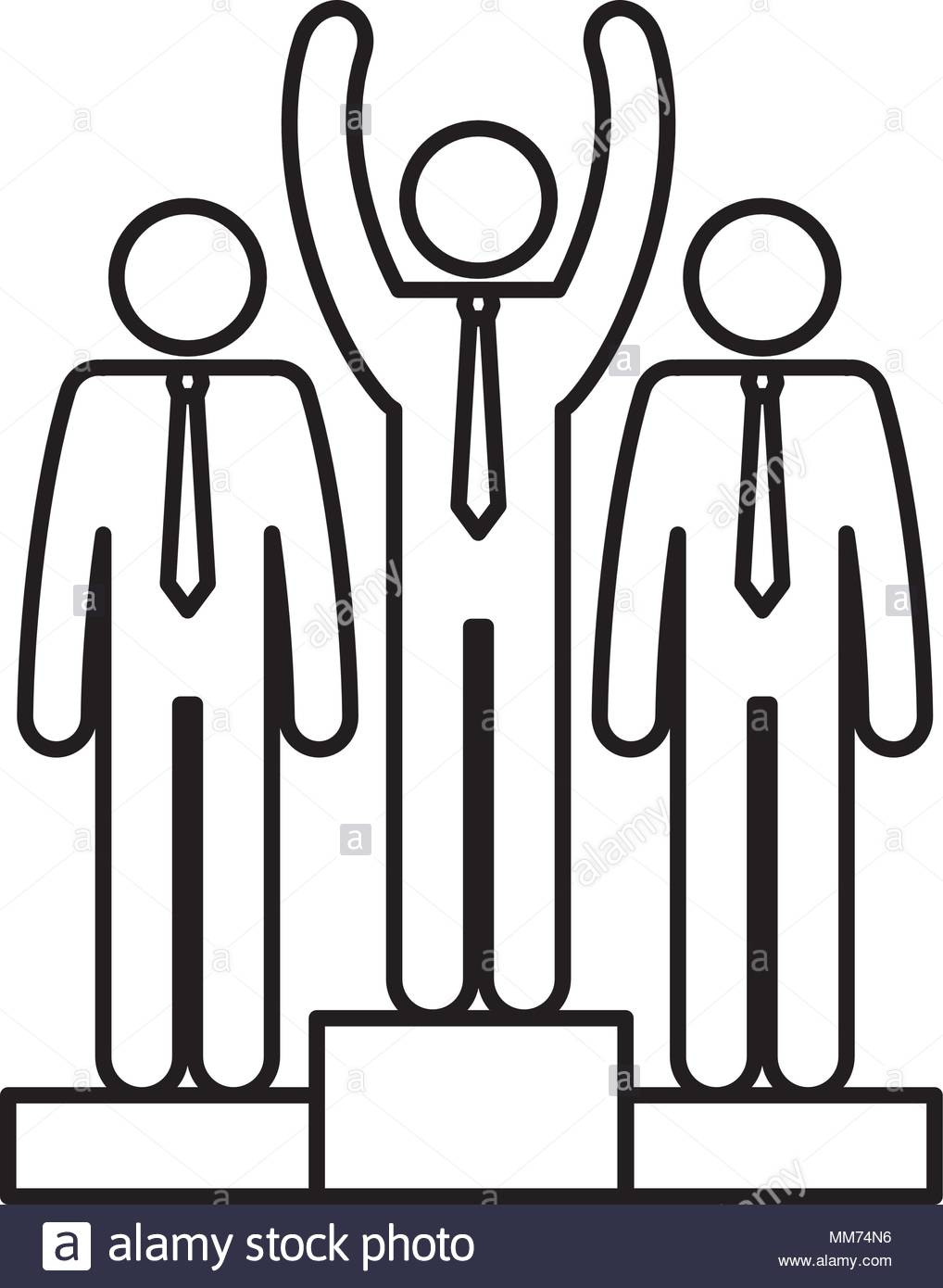 1018x1390 Businesspeople Teamwork In Podium Silhouette Avatars Stock Vector
