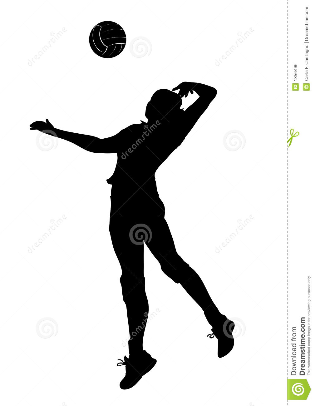 1009x1300 Volleyball Silhouette Clipart Unbelievable Player