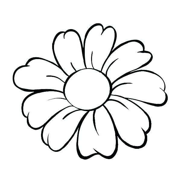 600x627 Flower Black And White Free Download Best Flower Outline