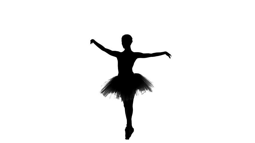 852x480 Young Ballerina Dancer In Tutu Showing Her Techniques, Beautiful