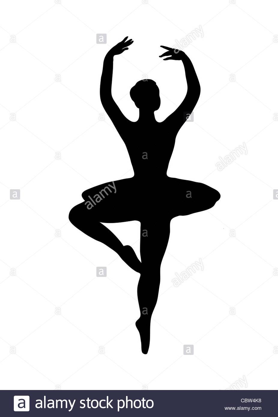 926x1390 Ballet Dance Pose Bw Illustration Stock Photo, Royalty Free Image