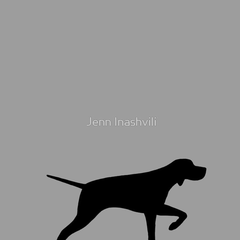 800x800 Pointer Dog Silhouette(S) Spiral Notebooks By Jenn Inashvili