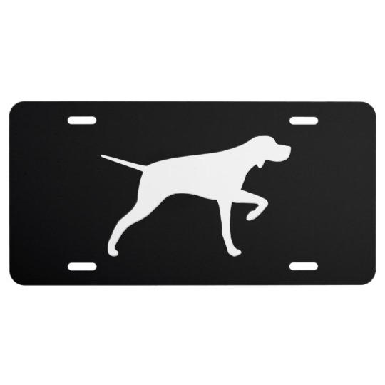 540x540 Pointer Dog Silhouette License Plate