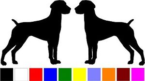 300x168 2 German Shorthaired Pointer Dog Breed Home Car Silhouette Vinyl