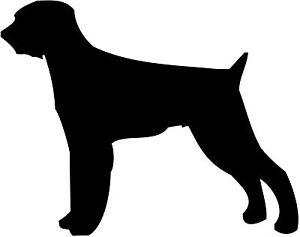 300x237 Wire Haired Pointer Dog Decal Sticker Car Van Vinyl Silhouette