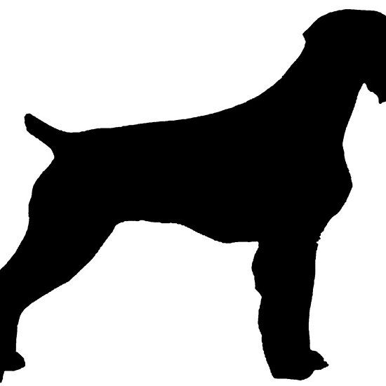 550x550 German Wirehaired Pointer Silhouette German Wirehaired Pointer