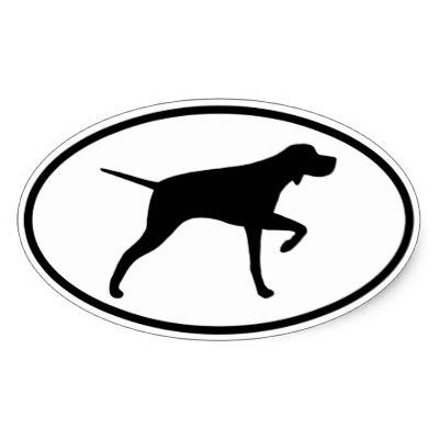 400x400 English Pointer Dog Stickers, Gift Idea Classic Round Sticker