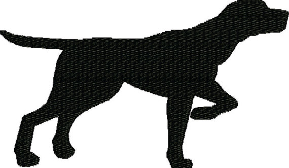 570x331 Embroidery Design Dog , Pointer Silhouette From Frenee2embroidery