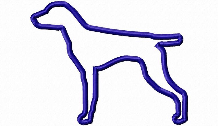 750x436 Applique German Shorthaired Pointer Dog Silhouette Machine