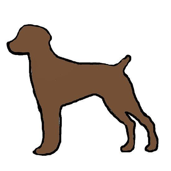 550x550 German Shorthaired Pointer Liver Silhouette