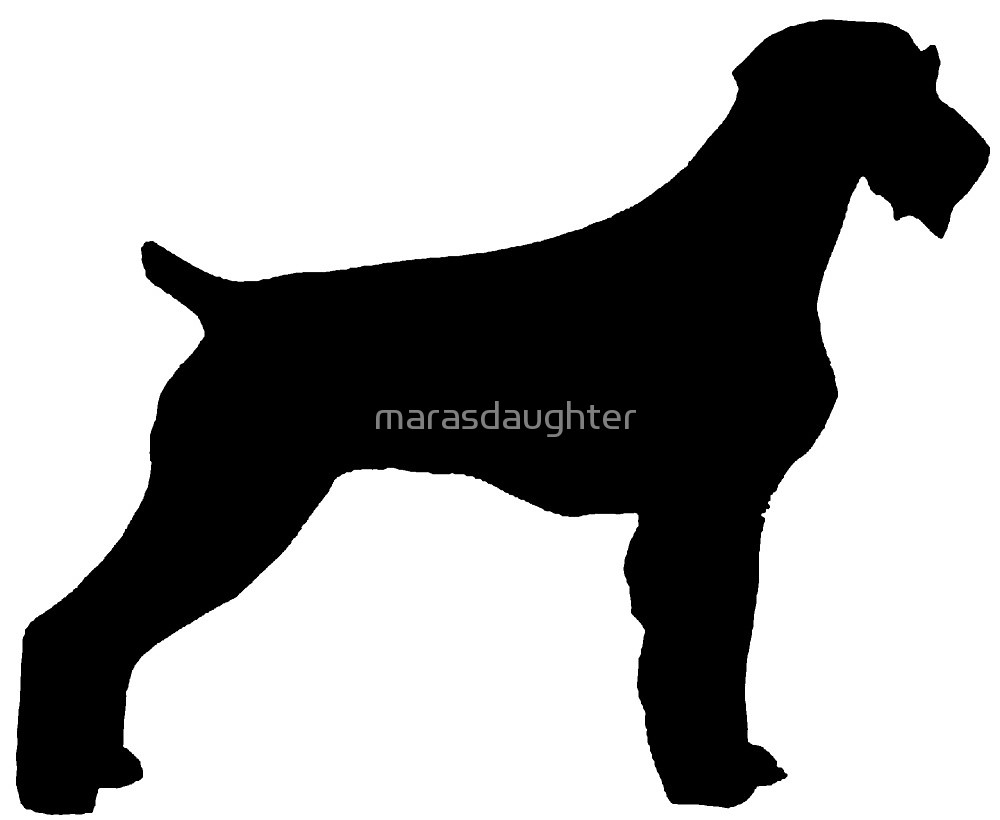 1000x820 German Wirehaired Pointer Silhouette By Marasdaughter Redbubble