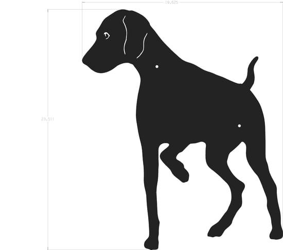 550x486 Dog Silhouette