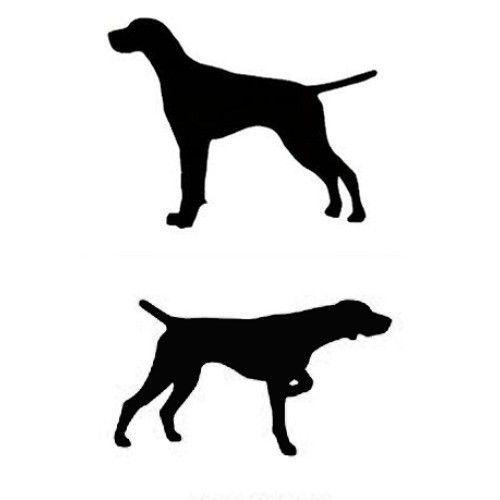 500x500 English Or German Shorthair Pointer Dog Profile Silhouette Window
