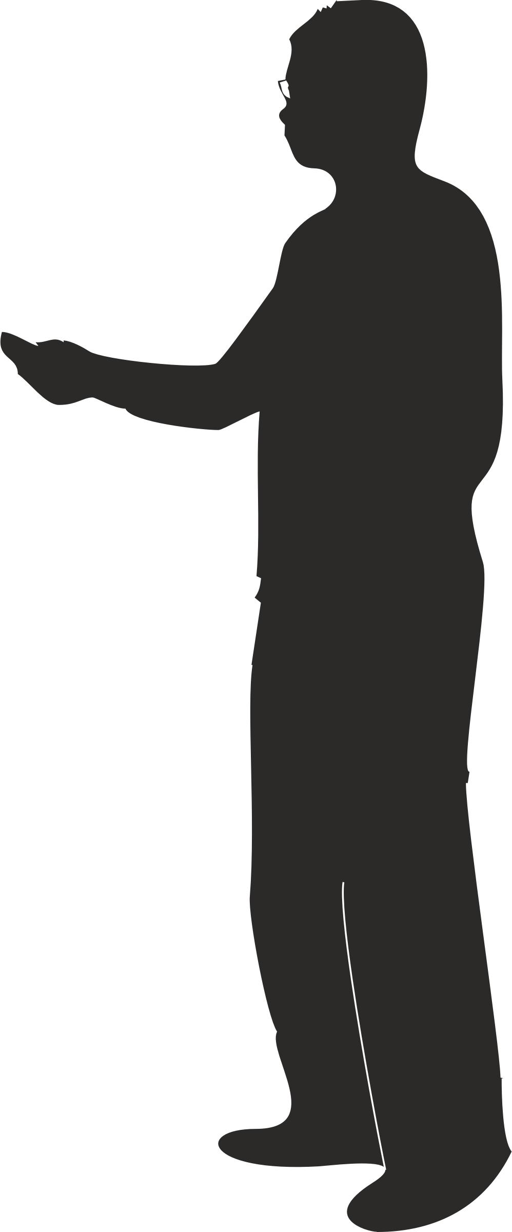 998x2400 Male Silhouette Presenting Or Pointing Icons Png