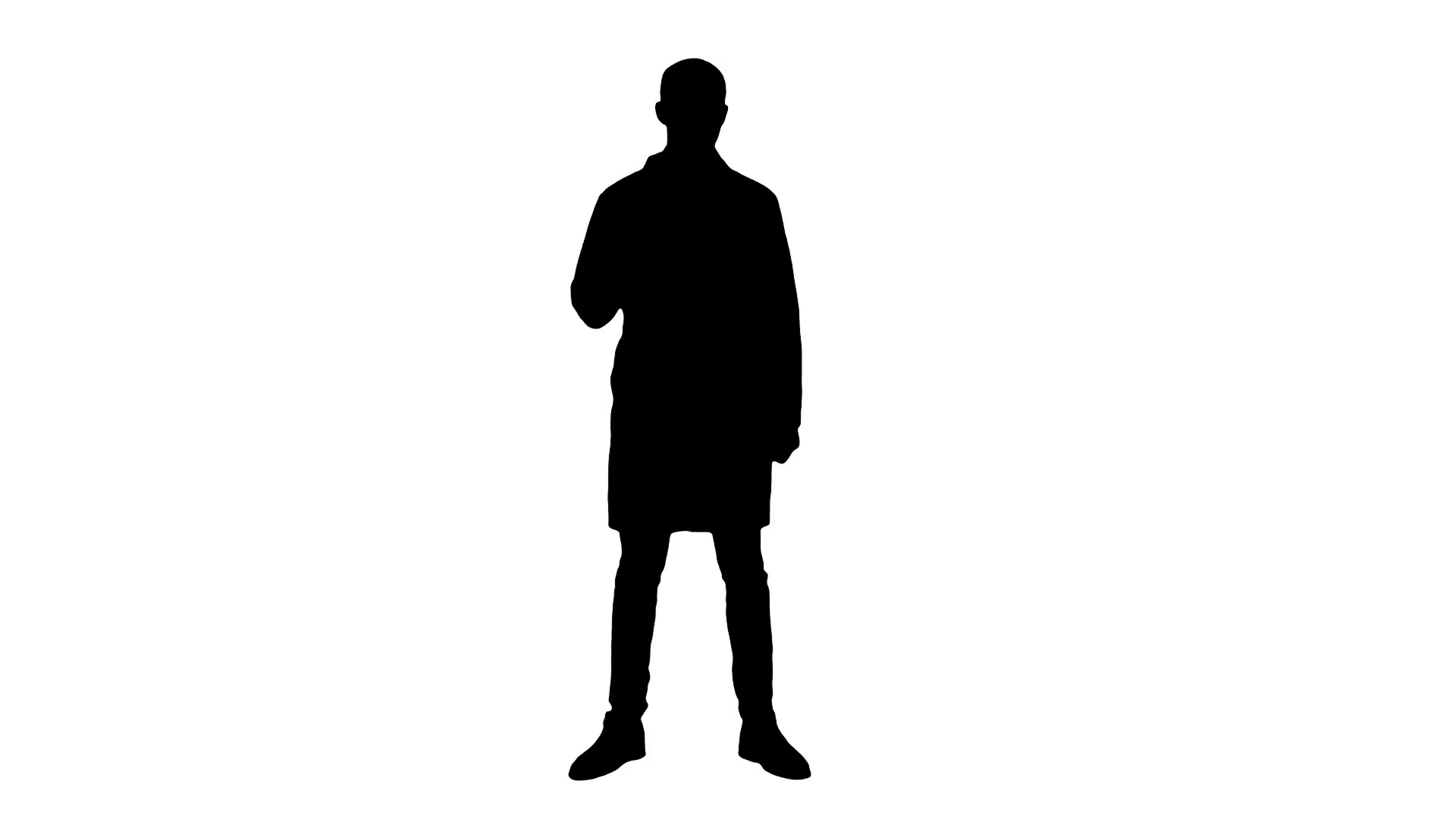 1920x1080 Silhouette Smiling Doctor In White Coat Pointing