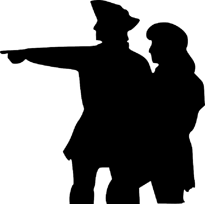 800x798 Two, People, Silhouette, Pointing, Sailors, Point