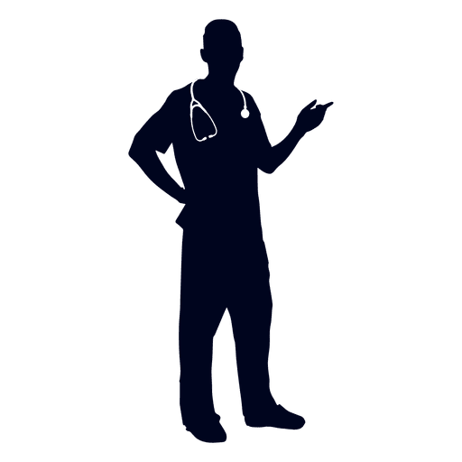 512x512 Doctor Pointing Silhouette
