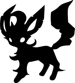 320x355 Pokemon Leafeon 5 Silhouette Decal Sticker For Cars