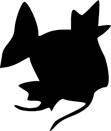 383x450 Pokemon Magikarp 5 Silhouette Decal Sticker For Cars