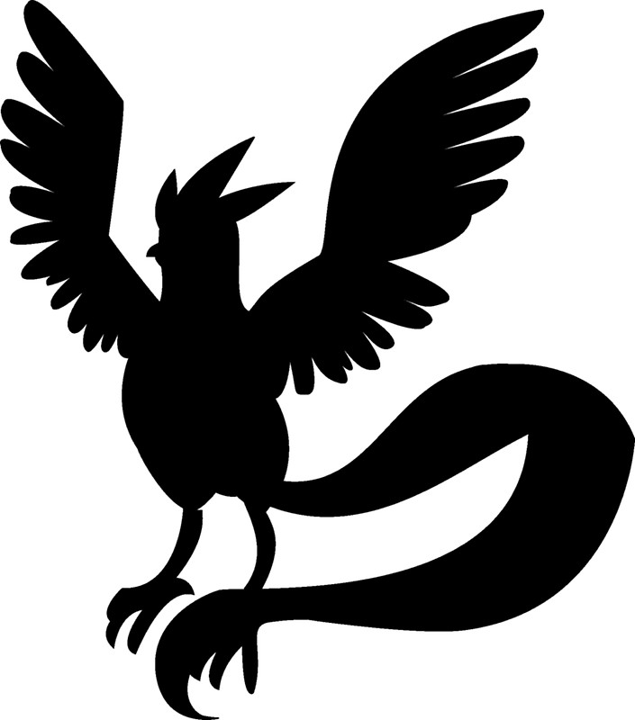 705x800 Articuno Silhouette Stickers By Frankie T Redbubble