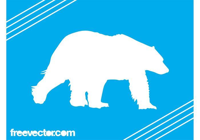 700x490 Polar Bear Silhouette