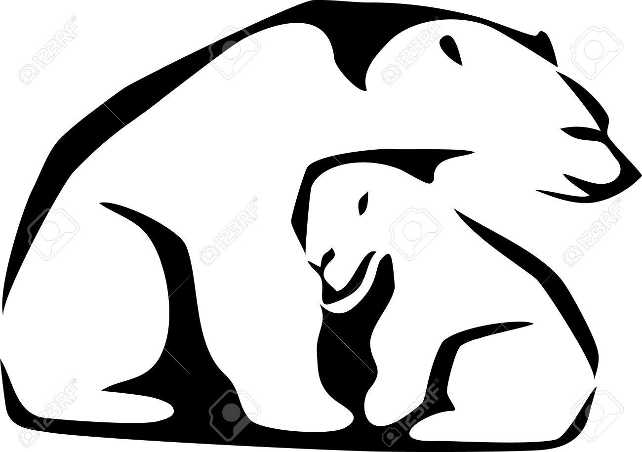 1300x915 Polar Bear Clipart Shadow