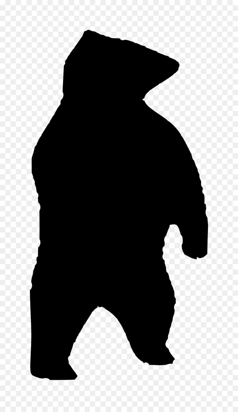 900x1560 Polar Bear American Black Bear Silhouette Clip Art
