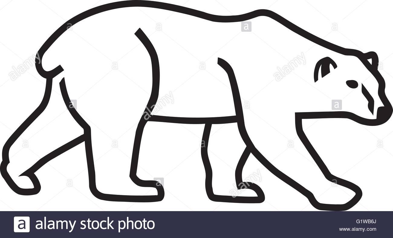 1300x788 Polar Bear Silhouette Outline Stock Vector Art Amp Illustration