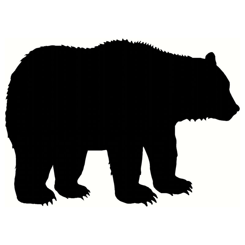 800x800 Funny Fashion Mama Bear Silhouette Decor Decal Vinyl Car Sticker