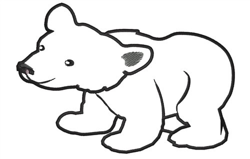 500x319 Polar Bear Clipart Black And White