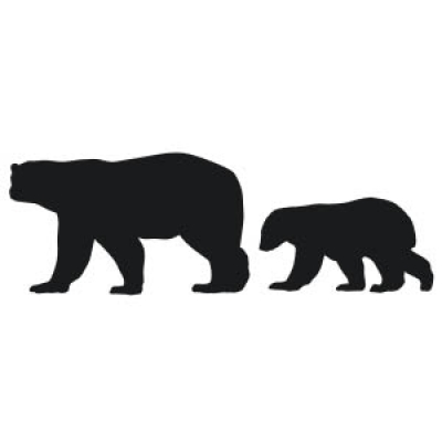 400x400 Bear Vinyl Decal Sticker
