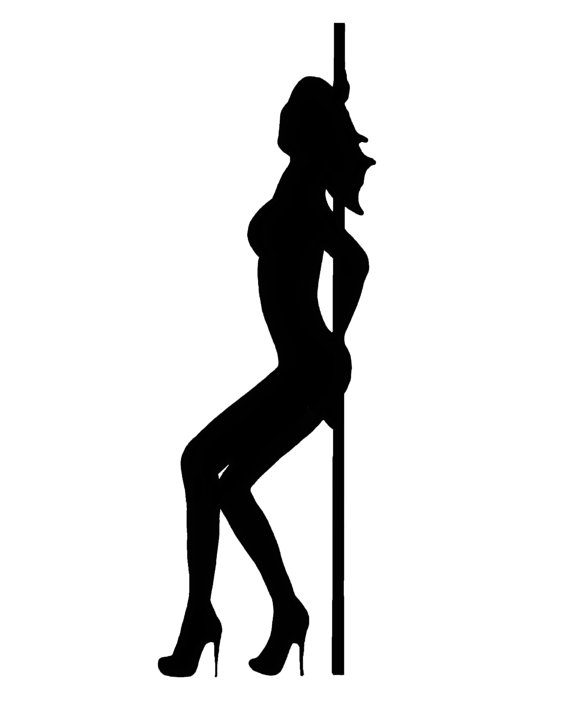 570x712 Exotic Dancer Silhouette Clip Art From Thehappyhippiehaven On Etsy