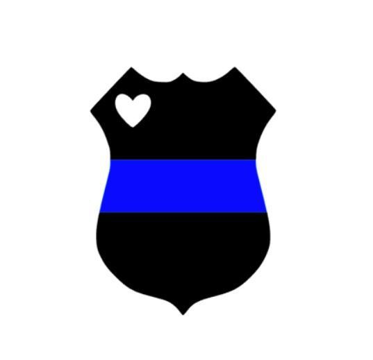 537x519 Police Badge Vinyl Decal Thin Blue Line Police Wife Police